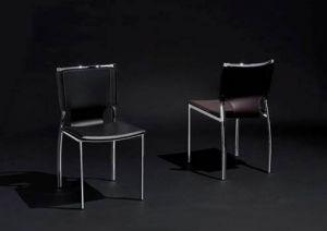 m belimperium stuhl st hle lederstuhl leder wei schwarz chrom gestell daste39. Black Bedroom Furniture Sets. Home Design Ideas