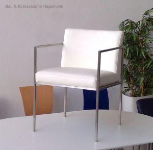 m belimperium weisser lederstuhl loungestuhl stuhl st hle lederstuhl mit armlehnen leder. Black Bedroom Furniture Sets. Home Design Ideas