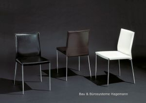 m belimperium stuhl st hle vierfu stuhl leder schwarz weiss braun neu daste34. Black Bedroom Furniture Sets. Home Design Ideas